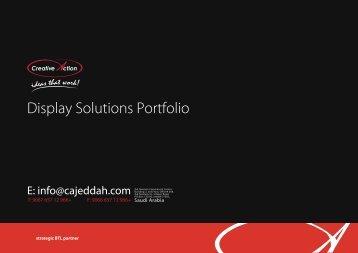 Display Solutions Portfolio