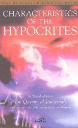 Characteristics of the Hypocrites by Shaykh al-Islam