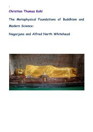Alfred North Whitehead and Nagarjuna.