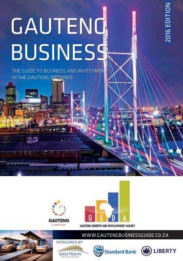Gauteng Business 2016 edition