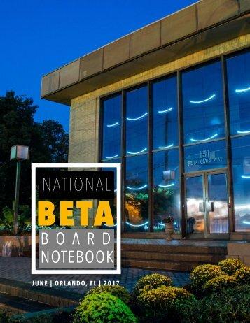 Board Notebook June 2017