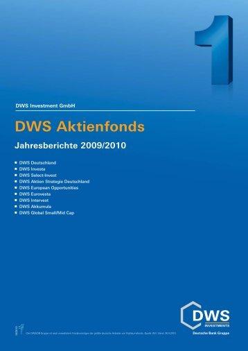 DWS Deutschland - Werner Junge
