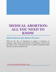 Medical Abortion-All You Need to Know
