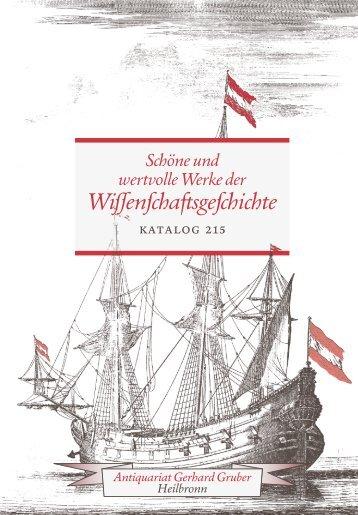 Schöne und wertvolle Werke der Wissenschaftsgeschichte - Katalog 215