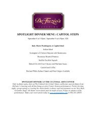 Spotlight Dinner Menu - Capitol Steps