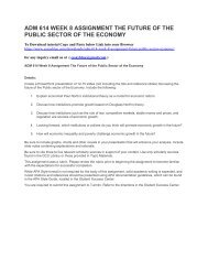 ADM 614 WEEK 8 ASSIGNMENT THE FUTURE OF THE PUBLIC SECTOR OF THE ECONOMY (2)