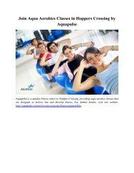 Join Aqua Aerobics Classes in Hoppers Crossing by Aquapulse