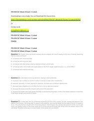 FIN 650 GC Week 8 Exam 3 Latest