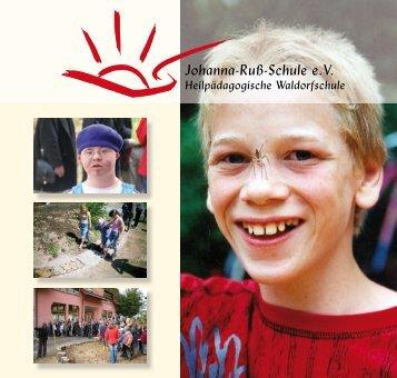 Johanna-Ruß-Schule: Info-Broschüre 2007 - Waldorf-net