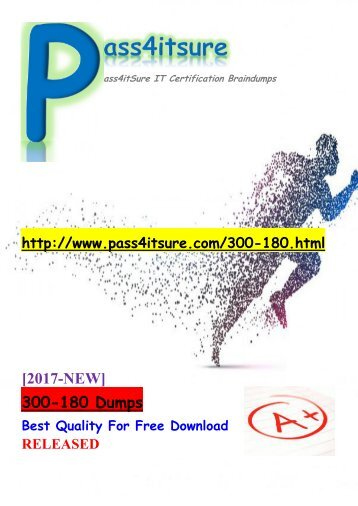 New Pass4itsure Cisco 300-180 Dumps PDF 291 Q&As Share[68-100]
