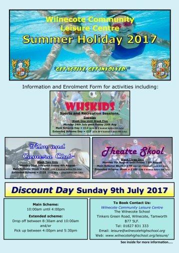 Summer Enrolment Form 2017
