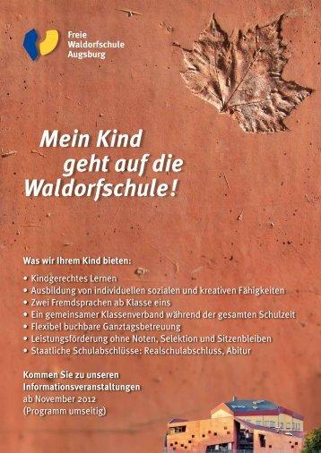 Flyer Informationswochenende (pdf) - Freie Waldorfschule Augsburg ...