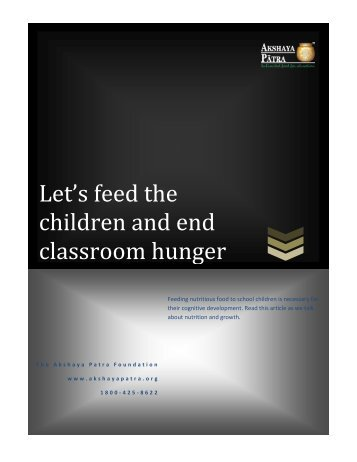 Let's feed the children