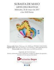 CATALOGO SUBASTA ARTES DECORATIVAS MAYO 2017