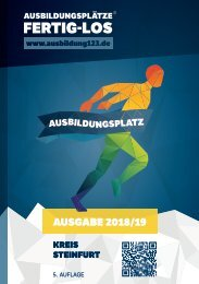 AUSBILDUNGSPLÄTZE - FERTIG - LOS | Kreis Steinfurt | Ausgabe 2018/19