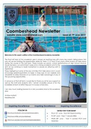 Coombeshead Academy Newsletter - Issue 62