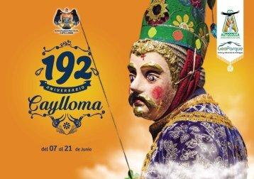 Programa por el 192 Aniversario de Caylloma