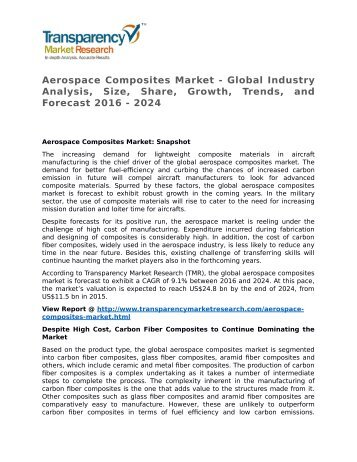 Aerospace Composites Market - Global Industry Analysis, Size, Share, Growth, Trends, and Forecast 2016 - 2024