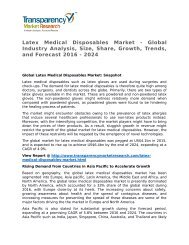 Latex Medical Disposables Market - Global Industry Analysis, Size, Share, Growth, Trends, and Forecast 2016 - 2024