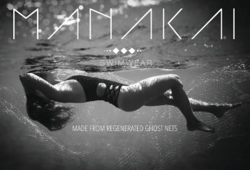 Manakai Swimwear Press Kit Eco~Conscious Collection