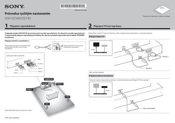 Sony DAV-DZ340 - DAV-DZ340 Guide de mise en route Tchèque