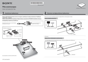 Sony DAV-DZ340 - DAV-DZ340 Guide de mise en route Finlandais