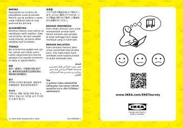 Ikea EKET Combinazione Di Mobili Con Piedini - S89221060 - Manuali