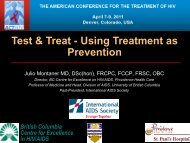 Test & Treat - Using Treatment as Prevention - ACTHIV Conference