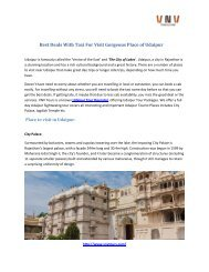 Best Deals With Taxi For Visit  Gorgeous Place of Udaipur