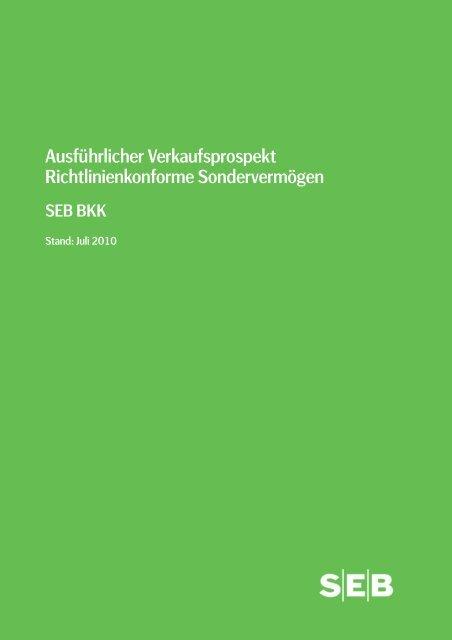 Verkaufsprospekt (PDF) - SEB Asset Management