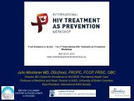 Julio Montaner MD - International Association of Physicians in AIDS ...