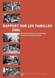Rapport sur les familles 2004 - Bundesamt für Sozialversicherungen ...