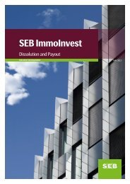SEB ImmoInvest Dissolution and Payout - SEB Asset Management