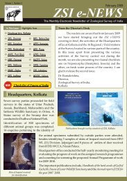 ZSI e-news - Zoological Survey of India