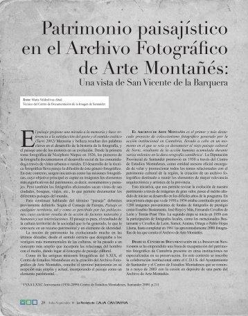 El paisaje propone una mirada a la memoria y ... - Caja Cantabria