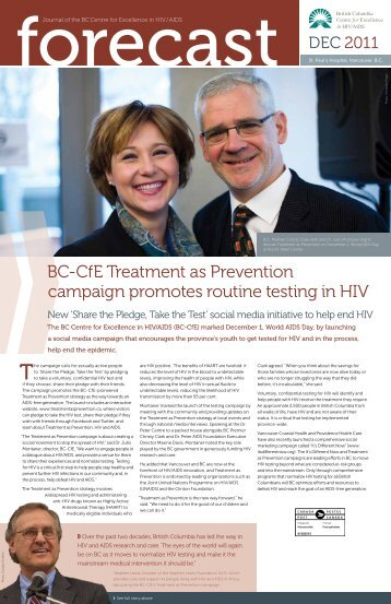Forecast - Dec. 2011 - BC Centre for Excellence in HIV/AIDS