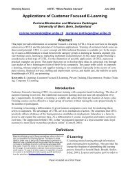 Applications of Customer Focused E-Learning - Informing Science + ...