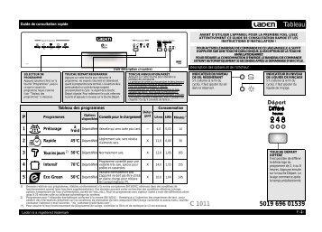 KitchenAid C 1011 NB - C 1011 NB FR (851000529330) Guide de consultation rapide