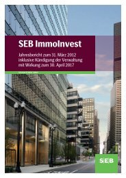 Jahresbericht 31.03.2012 - SEB Asset Management