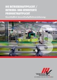 Betriebshaftpflicht - bei der Waldenburger Versicherung AG