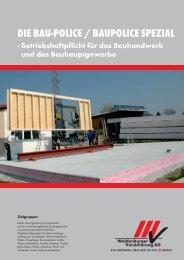 Baupolice - bei der Waldenburger Versicherung AG