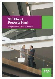 Halbjahresbericht zum 30.06.2012 - SEB Asset Management