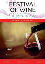 Glasgow Festival of Wine 2017 | Wine Tasting Catalogue