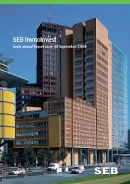 semi-annual report 30 Sep 2008 - SEB Asset Management