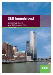 semi-annual report 30 Sep 2010 - SEB Asset Management