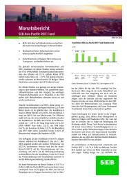 Monatsbericht Oktober 2012 - SEB Asset Management
