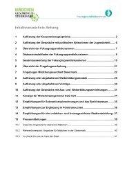 Inhaltsverzeichnis Anhang - Frauengesundheitszentrum Graz