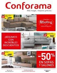 19211271e CONFORAMA hasta 50% en sofas y salones HASTA EL 29 DE JUNIO 2017