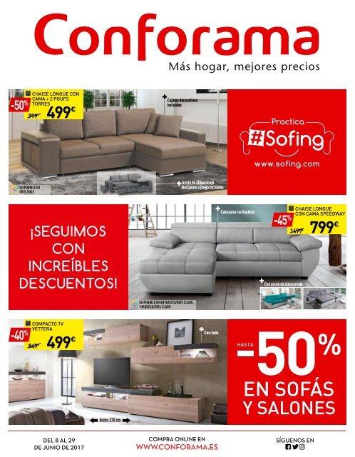 Conforama Hasta 50 En Sofas Y Salones Hasta El 29 De Junio 2017