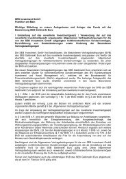 Bekanntmachung (PDF) - SEB Asset Management